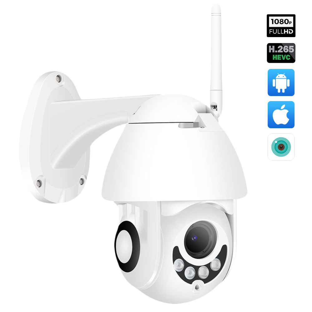 Hamrolte HD1080P Wifi Camera H.265x Mini Pan/Tilt Onvif IP Camera Nightvision Motion Detection ICsee Waterproof Outdoor Camera