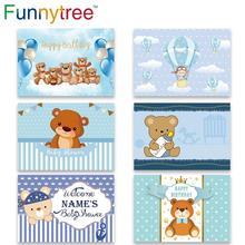Funnytree photozone ballon wolke Cartoon bär 1st Geburtstag Baby Dusche hintergrund hintergrund photo photophone Home Wand Decor