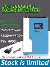 5500w 48vdc 100a mppt fora da grade inversor híbrido inversor potência avaliado 5. 5kva/5kw com wifi pv 120-500vdc 6000w/o trabalho da bateria