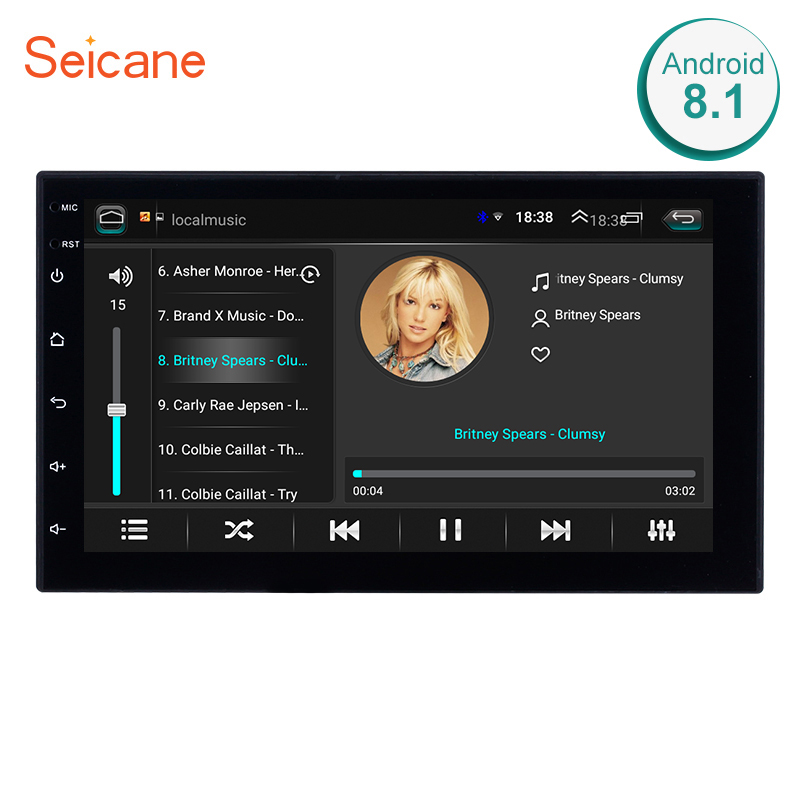 Seicane Universal Android 8,1 7 2Din la Radio del coche de GPS de la pantalla táctil reproductor Multimedia para Nissan TOYOTA Kia RAV4 Honda VW hyundai
