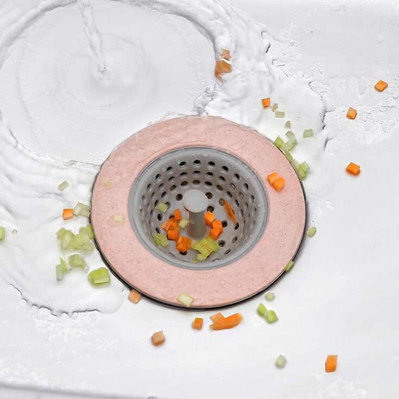 4 色のキッチンシンクドレンプラグストレーナーバスドレインストッパーをシンク床ドレンプラグ下水道フィルターメッシュヘアキャッチャーアクセサリー