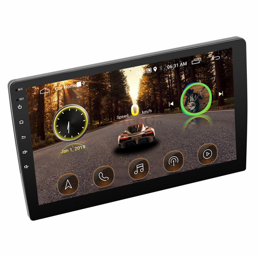 2din Car radio 9 10.1inch Android system Auto stereo 2.5D Capacitive Screen Bluetooth WIFI GPS Quad Core For Universal Car  (10)