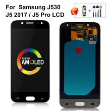 Super AMOLED LCD for SAMSUNG Galaxy J5 2017 J530 J530F LCD Touch Screen For SAMSUNG J5 Pro 2017 J530 Display Screen Replacement