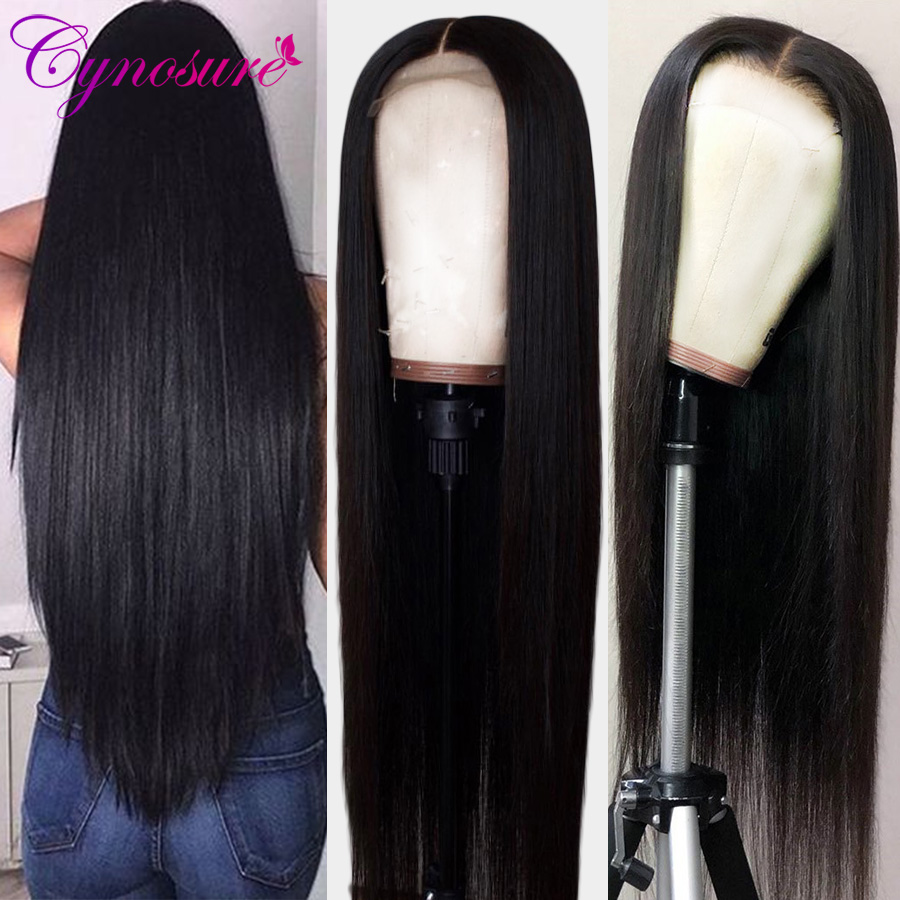 Human-Hair-Wigs Hairline Lace-Frontal Cynosure Pre-Plucked Straight Brazilian Remy 13X4/13X6