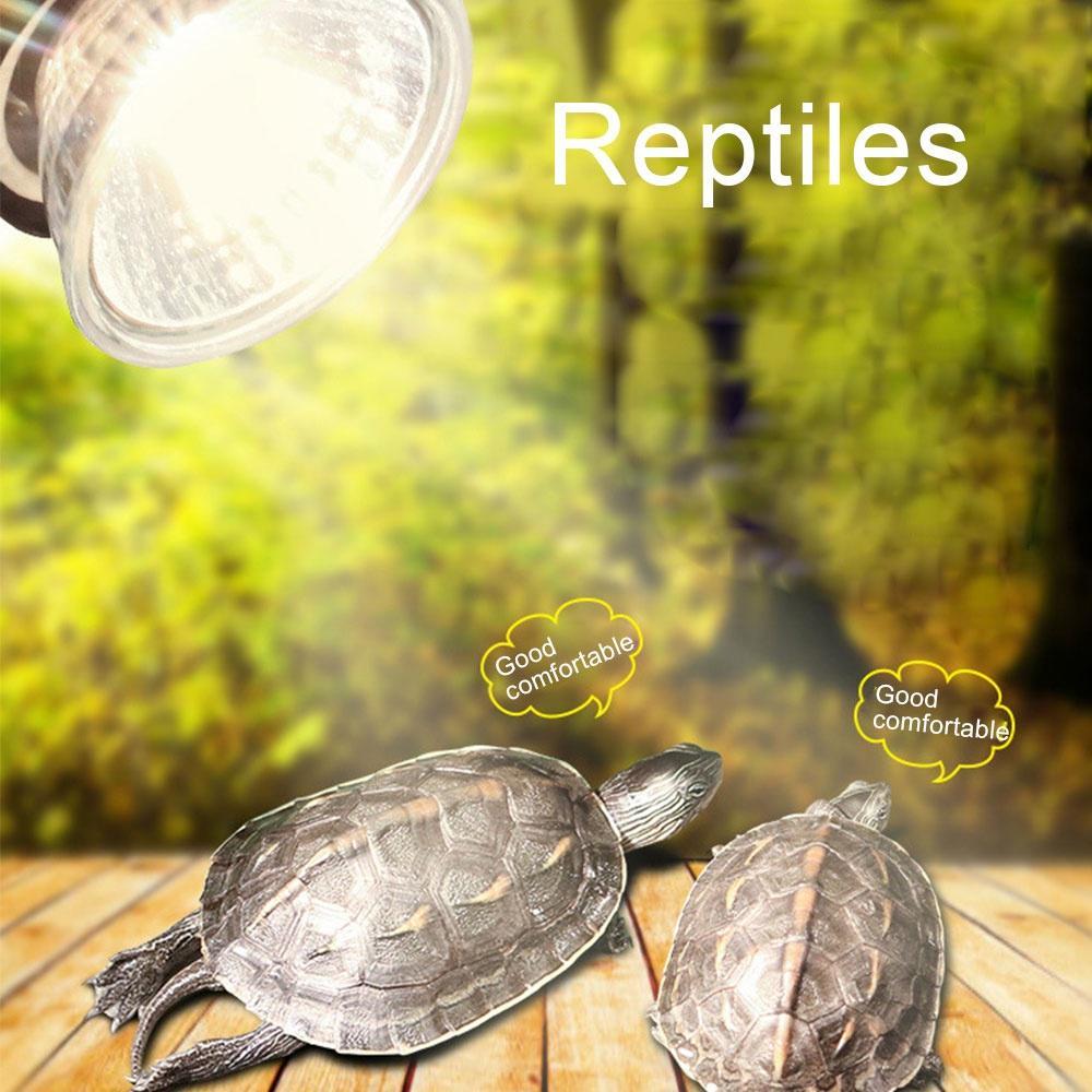 Pet Heating Lamp Reptile Tortoise UVA+UVB 3.0 Heat Lamp Full Spectrum Sunlamp Basking Tortuga Rest Bulb Temperature Controller