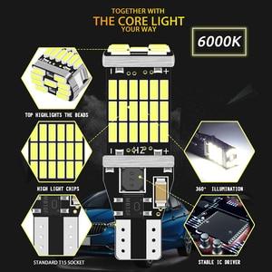 RXZ 1 шт. Canbus W16W T15 920 921 912 светодиодный 4014 45 чипы обратный Светильник лампы резервные парковка светильник лампы Белый Красный W5W без ошибок