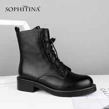 Sophitina/ботильоны на шнуровке; Высококачественная женская
