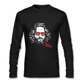 품질 인쇄 남자 T 셔츠 긴 소매 o 목면 큰 Lebowski Dude 차가운 T-셔츠 Mens 판매 가격 공식 의복