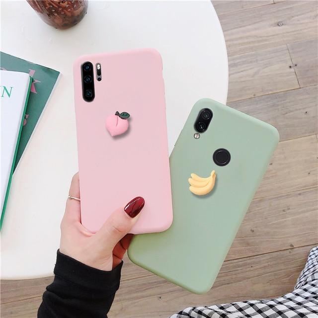 Coque en silicone 3D mignon pour huawei p30 p20 p smart lite pro plus 2019 coque arrière en tpu souple et coloré