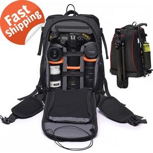 Image 1 - Camera Backpack Waterproof Anti theft Nylon Photo SLR Case Bag Backpack Camera Bag with TSA Lock Rain Cover for Canon Nikon Sony