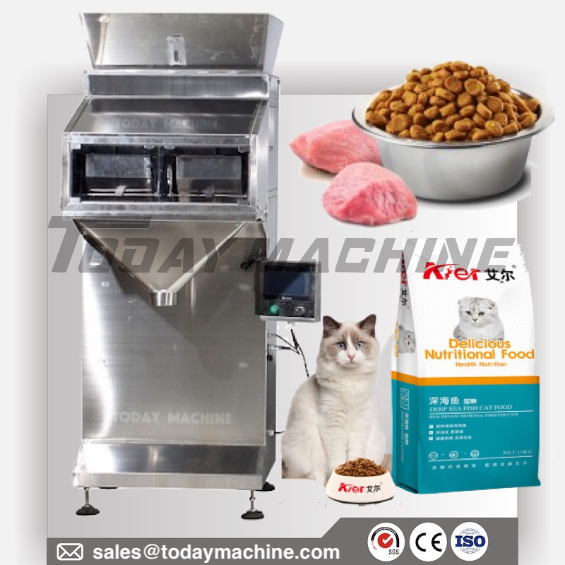 0-2kg Automatic Cat Dog Food Dispenser Filling Machine Grain Weighing Machine cat litter image