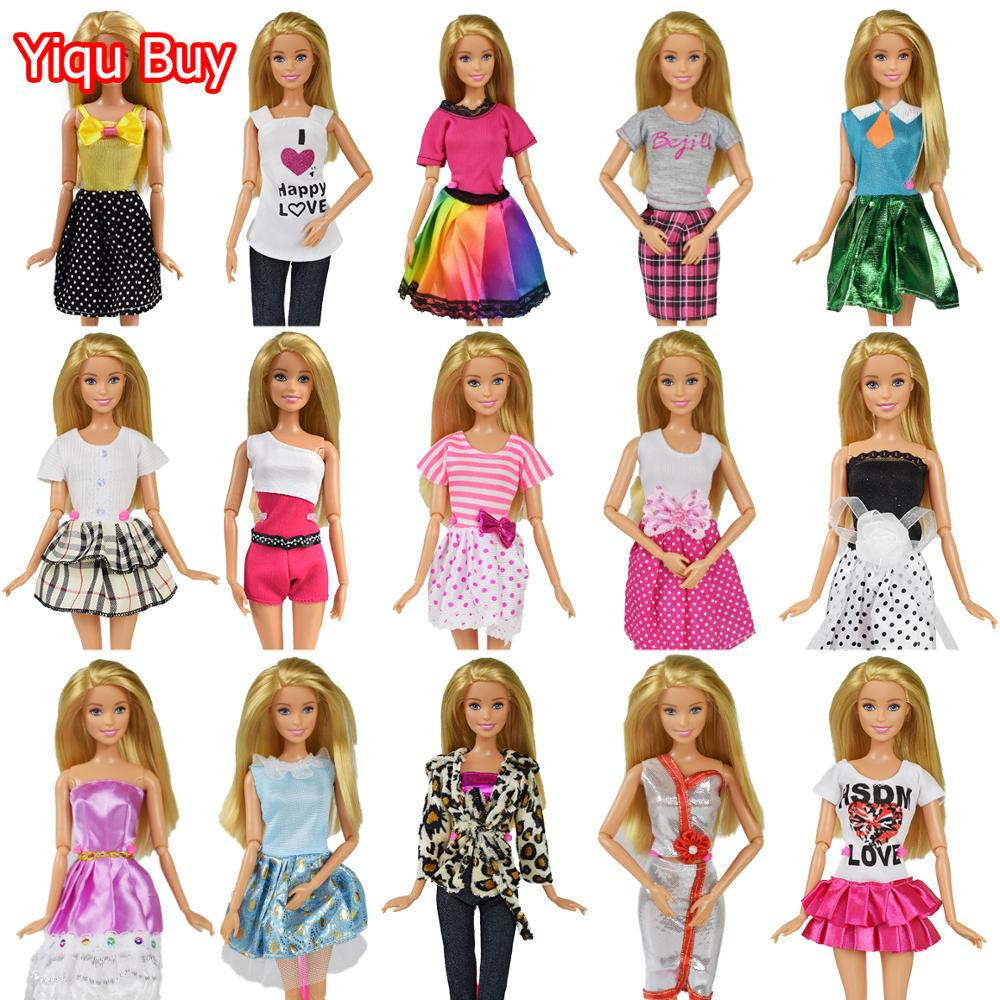 New Fashion Design Princess Dress Pants Skirt Doll Clothes Dress Accessories Party Dress Girl Toys For Barbie Doll Dress