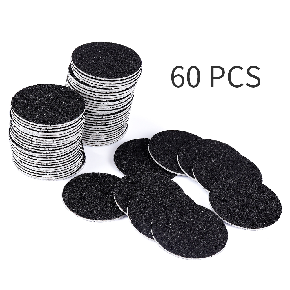 60 Pcs Replacement Sandpaper Discs Pad Sanding Paper For Electric Foot File Callus Hard Dead Skin Remover Grinding Pedicure Tool