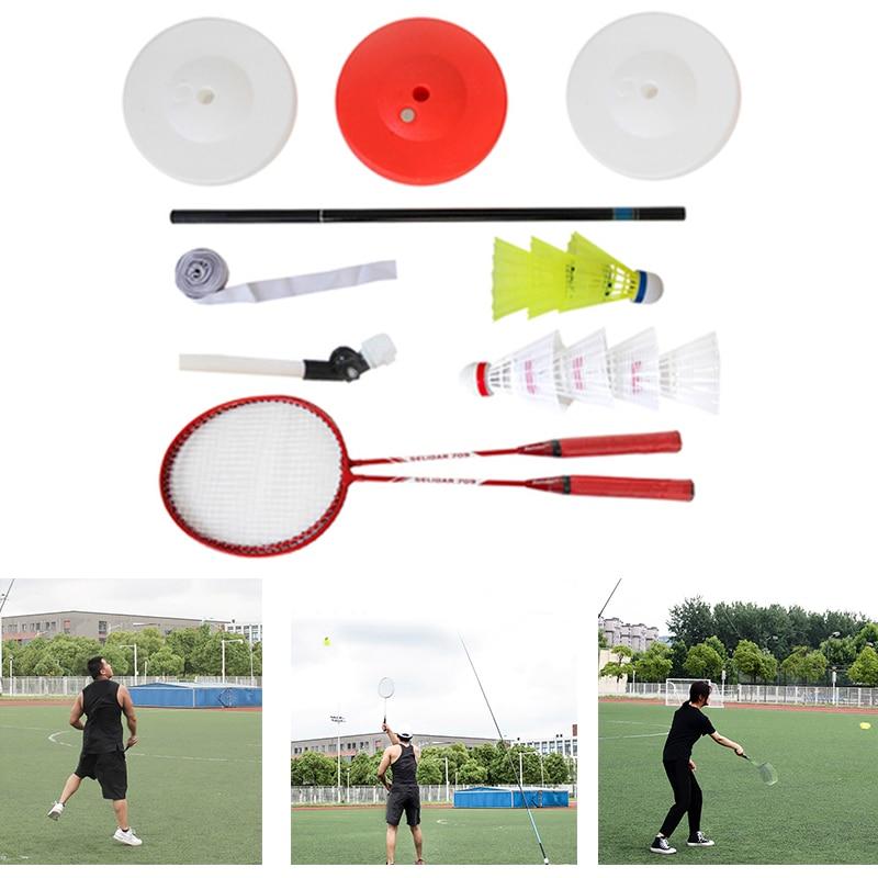 Portable Single Badminton Trainer Badminton Single Play Rebound Practice Swing Automatic Sparring FK88