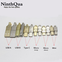 50set Micro Mini Type C USB 2.0 USB 3.1 Male plug connector Socket Jack Nickel/Gold Plated for DIY data cable HiFi Audio Adapter