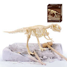 6 type Jurassic Dinosaur Velociraptor Fossil excavation kits Education archeology Exquisite Toy Set Child Gift