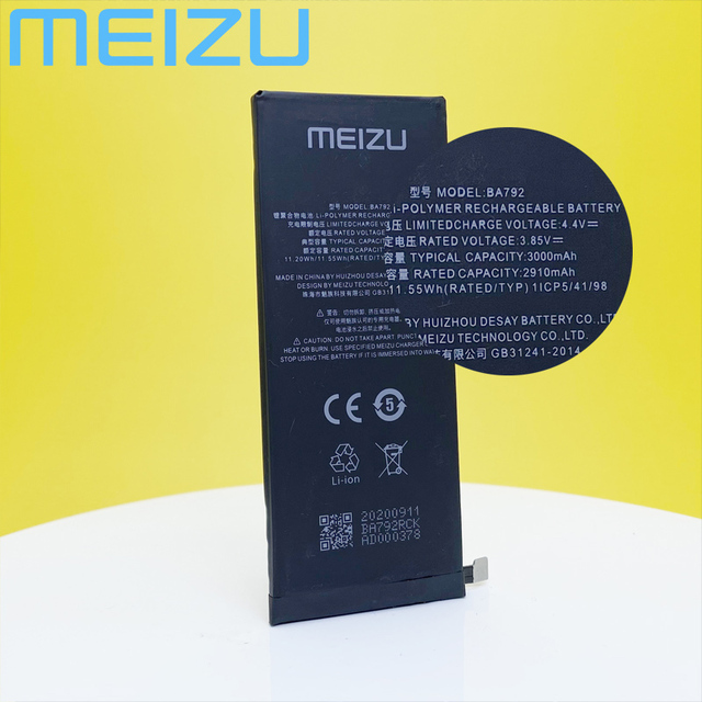 Meizu 100% Original 3000mAh BA792 New Battery For Meizu Pro 7 M792Q M792C M792H BA791 PHone High Quality+Tracking Number