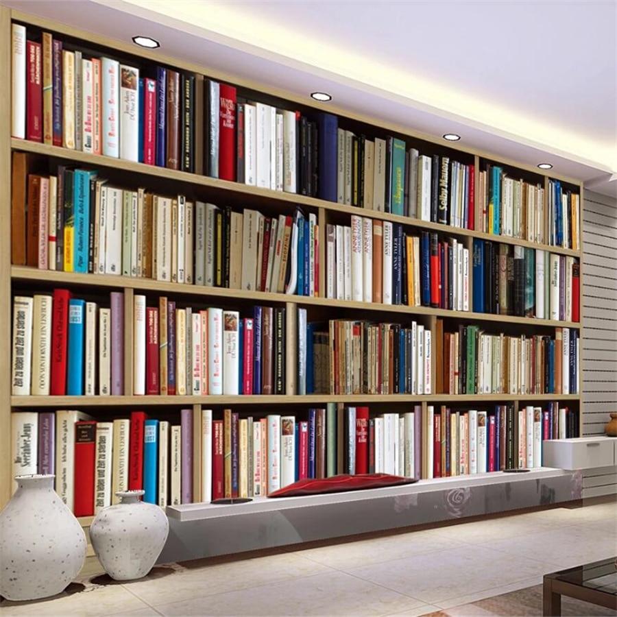 beibehang Custom wallpaper European 3D stereo обои library TV background wall living room