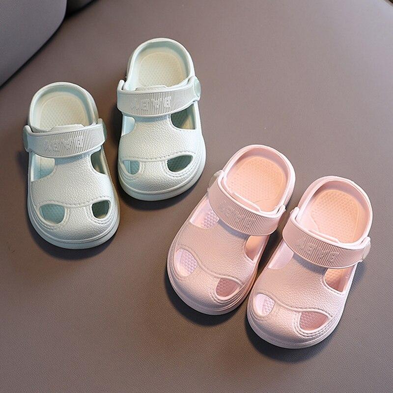 Slippers For Kids Shoes Boys Girls Summer Toddler Kids Cartoon Beach Shoes Baby Soft Indoor Bathroom Slippers Flip Flops 5