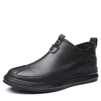 Męskie buty na co dzień wiosenne męskie buty motocyklowe buty jesienne skórzane buty męskie boczny zamek błyskawiczny jesienne modne męskie buty #1891 tanie i dobre opinie YD-EVER Podstawowe CN (pochodzenie) Skóra Split ANKLE Stałe Okrągły nosek RUBBER Wiosna jesień Niska (1 cm-3 cm) Pasuje prawda na wymiar weź swój normalny rozmiar