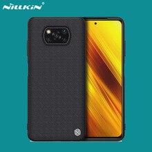 Cover For Xiaomi Poco X3 NFC X3 Pro Case NILLKIN Textured Nylon Fiber Cases Protector Back Cover For Xiaomi Poco X3 NFC 2020