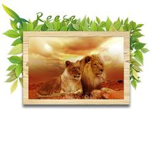 Full Diamond Painting The Couple Lion Diy Embroidery American Style Picture Decorated Living Room A Good Gift For Family