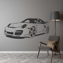 Classic Car Wall Sticker vinyl Bedroom Decor Kids Room Decoration racing car wall decal JH301 classic car wall sticker for boy bedroom decor kids room decoration vinyl roadster vinyl wall decor stickers mural poster