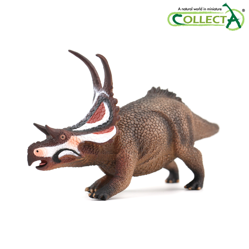 CollectA Triceratops /& Baby on Platform Dinosaur Animal Figure 89312