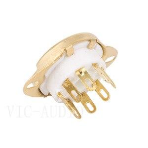 Image 5 - 10 sztuk 8Pins Big otwór rury gniazdo podstawa ceramiczna dla KT88 KT66 EL34 6SN7 GZ34 5881 6V6 5U4G 6550C wzmacniacz lampy elektronowej Audio HIFI