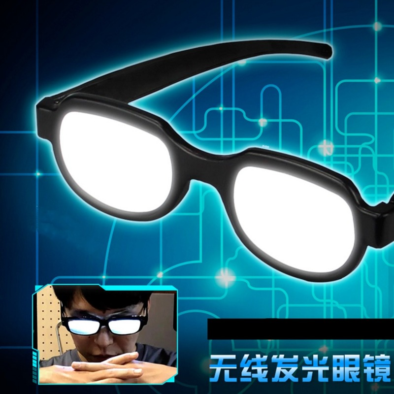 Japan Anime Eyewear Detective Conan EVA Ikari Gendou Cosplay Costumes LED Light Glasses Carnaval Party Online Show Funny Props