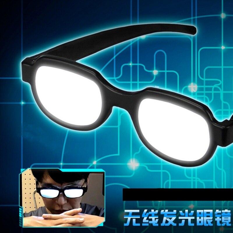 Japan Anime Eyewear Detective Conan EVA Ikari Gendou Cosplay Costumes LED Light Glasses Carnaval Party Online Show Funny Props