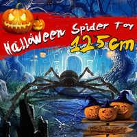 4 фута/125 см Хэллоуин большой черный для паука Хэллоуин реквизит декорация дом с привидениями Вечерние