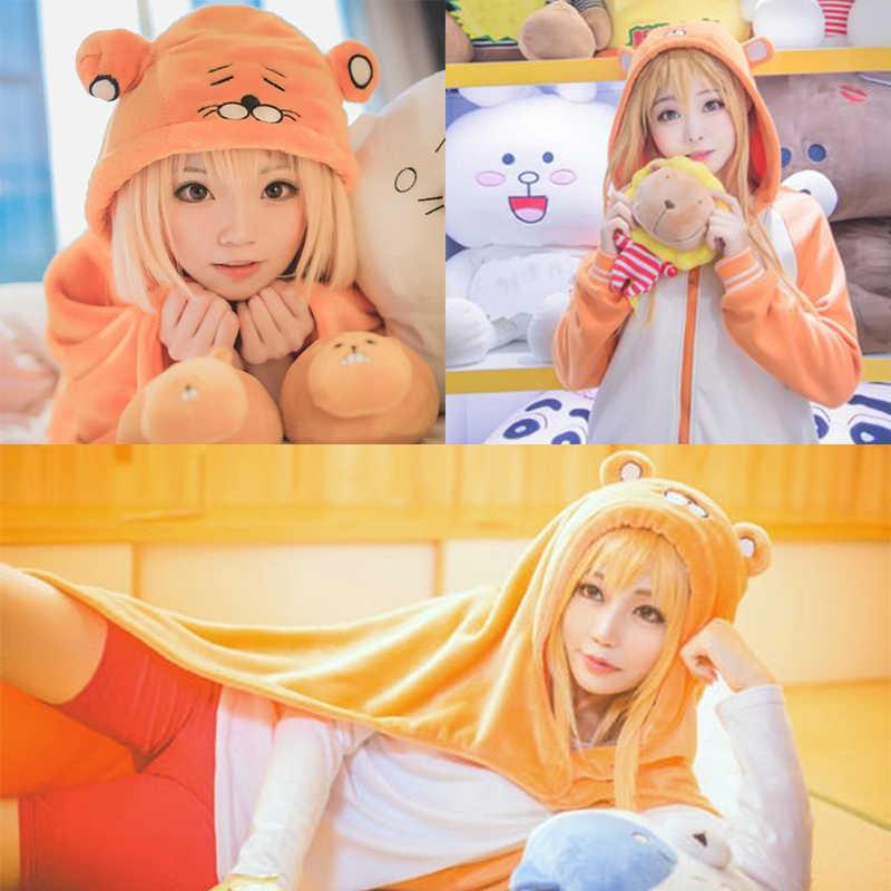 Dianqi 40 Inch Orange Cosplay Pruiken Met Pony Anime Lange Rechte Synthetische Pruiken Gemakkelijk Bijpassende Haar Voor Vrouwen Party