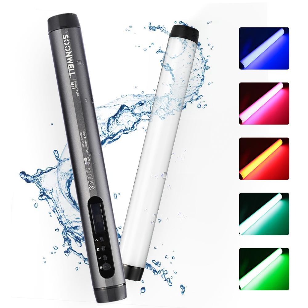 Soonwell MT1 светодиодный RGB мягкий светильник трубки Портативный ручной фотографии светильник ing палка для Android с помощью приложения на телефоне...