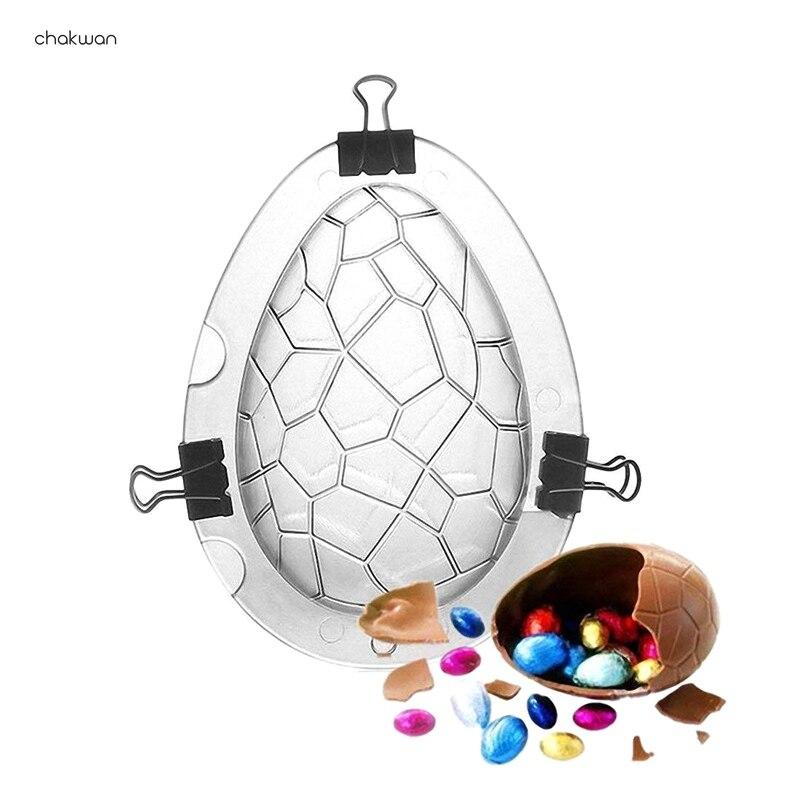 DIY пасхальное яйцо, 3d форма для торта, Пластиковая форма для шоколада, форма для печенья, конфет, инструменты для выпечки тортов