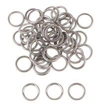 50 шт. M14 алюминиевые масляные деформируемые шайбы/сливные прокладки для свечей, совместимые с Mitsubishi V5 V6 MD050317