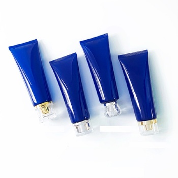 25 pcs/lot Empty 120 ML Facial Cleaner Soft Tube Translucent Blue Cosmetic Container Hair Gel Makeup Packaging Squeeze Bottle