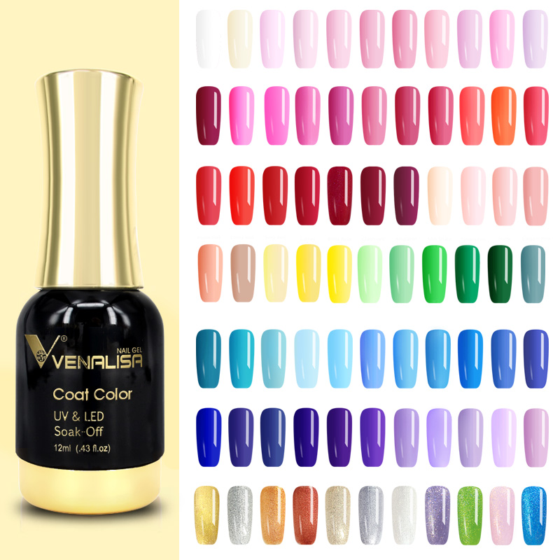 #60751 Venalisa Long Latest Soak Off Starry Gel UV LED Glitter Lacquer Polish Manicure 120 Color Super Shining Gel Nail Polishes