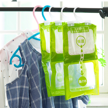Dehumidifier Bags Wardrobe Moisture Absorber Damp Mould Wardrobe Hanging Bag Closet Desiccant Bag Cabinet Wardrobe Drying Agent image