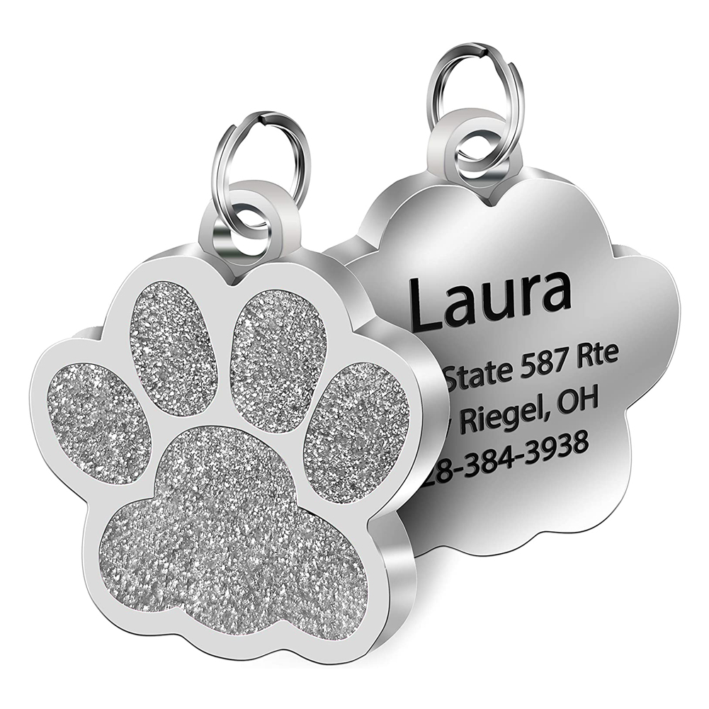 Customized Pet ID Tags Engraved Pet Name Number Address Cat Dog Collar Pet Pendant Puppy Cat Necklace Charm Collar Accessories