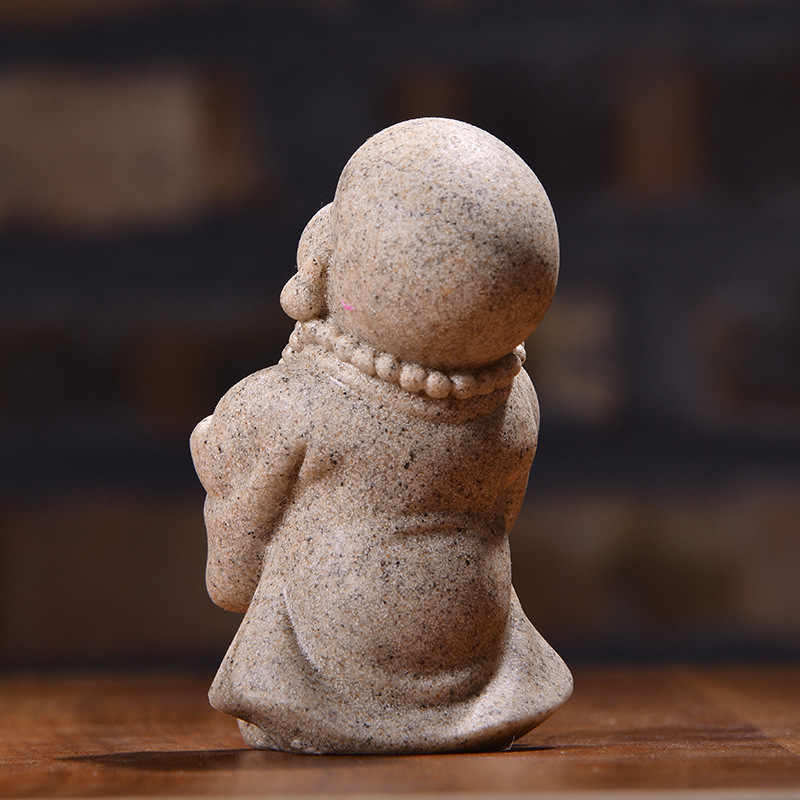 Yeni el sanatları küçük keşiş reçine süsler yaratıcı heykel ev dekorasyon hediye dekorasyon