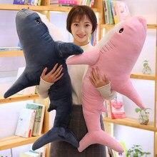 Oreiller de lecture en forme de requin Super énorme, jouet en peluche doux, Animal en peluche, cadeaux d'anniversaire, coussin, poupée, cadeau pour enfants