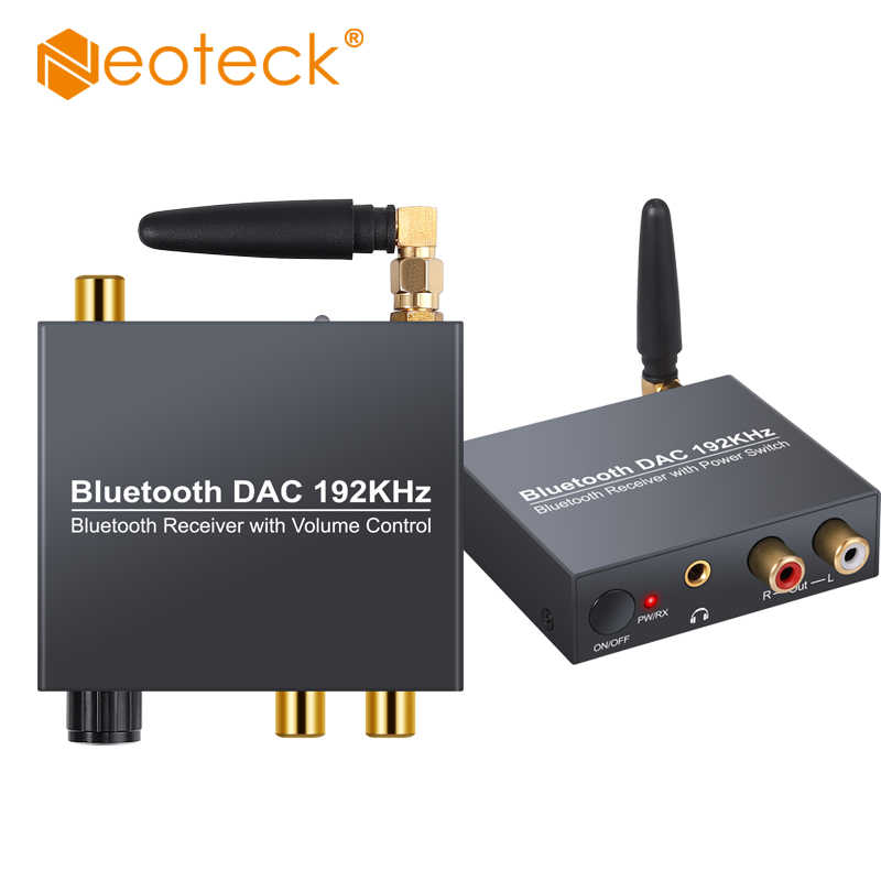 Neoteck 192Khz Bluetooth DAC Digitale ad Analogico Audio Converter Adapter Supporto di Controllo del Volume O di Alimentazione ON/OFF DAC bluetooth