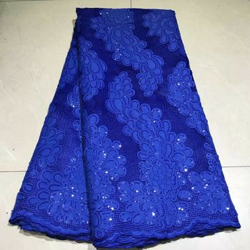 African Swiss Voile Lace Fabric High Quality Sequins Velvet Lace Fabric For Party African Lace Fabric With Sequins   NLY74