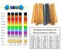 Conjunto 0.1R-750R 1W Resistores de Filme de Metal kit resistor 1% Valores * 10 30 pcs comumente resistência pacote resistor 300 pçs/lote
