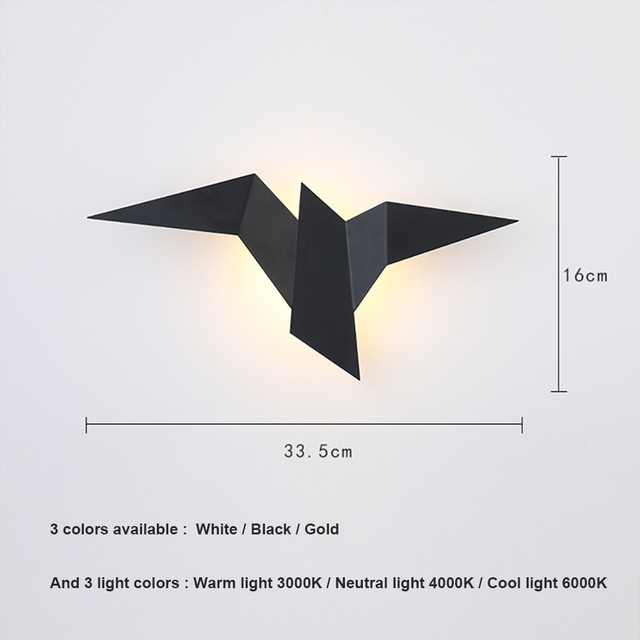 Nordic Led  Birds Wall Lampen 2