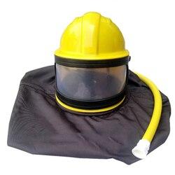 1 set di materiale PVC ABS sabbiatura sabbiatura protezione sabbiatura casco sabbiatura casco di sicurezza maschera