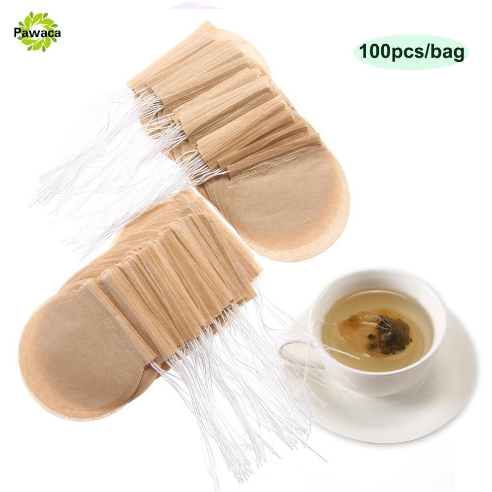 t/é 100 unidades bolsa de papel vac/ía con cord/ón para hojas sueltas caf/é Bolsas de filtro de t/é desechables