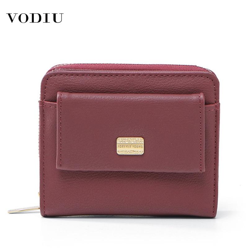 Women's Wallet Leather Purses Fashion Brand Designer Luxury Cute Zipper And Buckle Multifunctional Mini Short Wallet Women Purse