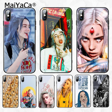 MaiYaCa Billie Eilish  Painted Cover Style Soft Shell Phone Case for Apple iPhone 8 7 6 6S Plus X XS MAX XR
